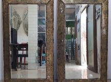 Eglomise Square Mirror