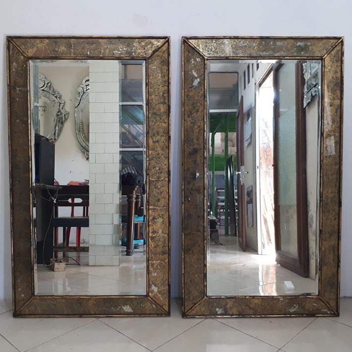 Mirror lessframe. Eglomise Mirror