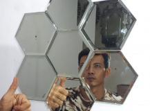 seratjati octagonal wall decorative glass