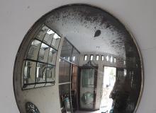 convex smoked glass mirror