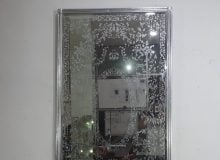 eglomise etsa frosted glass mirror
