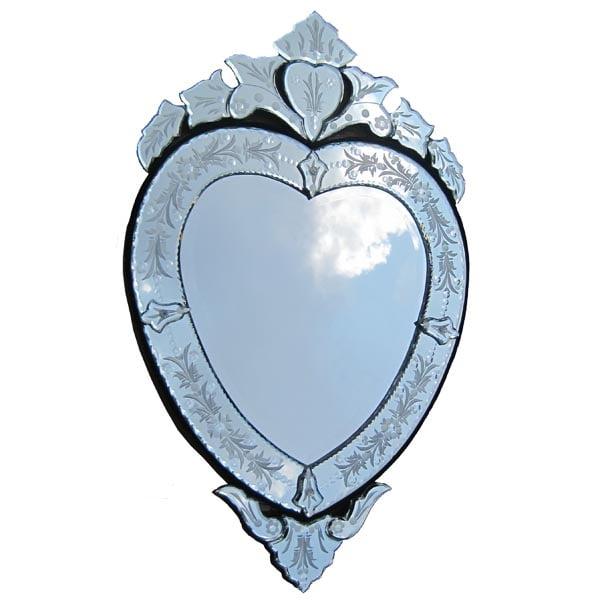 heart shape venetian mirror