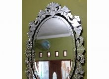 Venetian Mirror Oval Full Crown